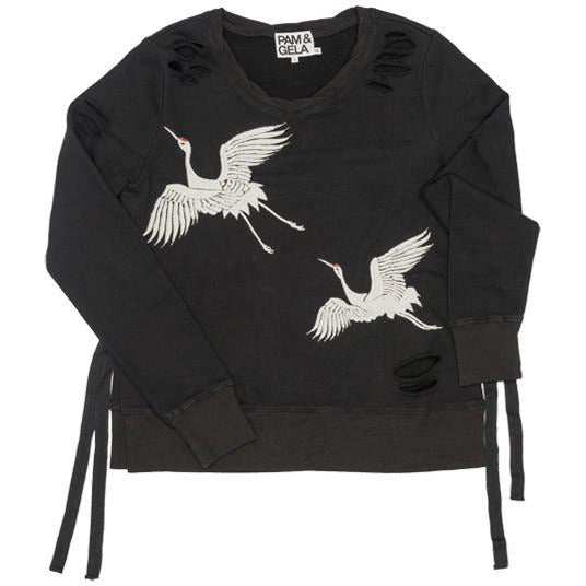 Pam-Gela-Cranes-Destroyed-Sweatshirt