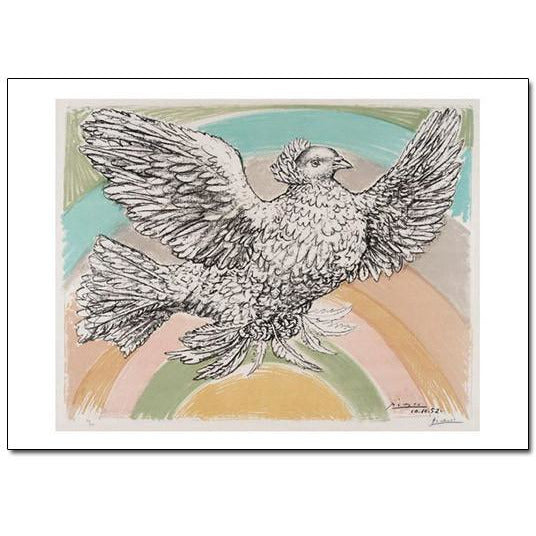 Pablo Picasso Colombe volant Holiday Cards