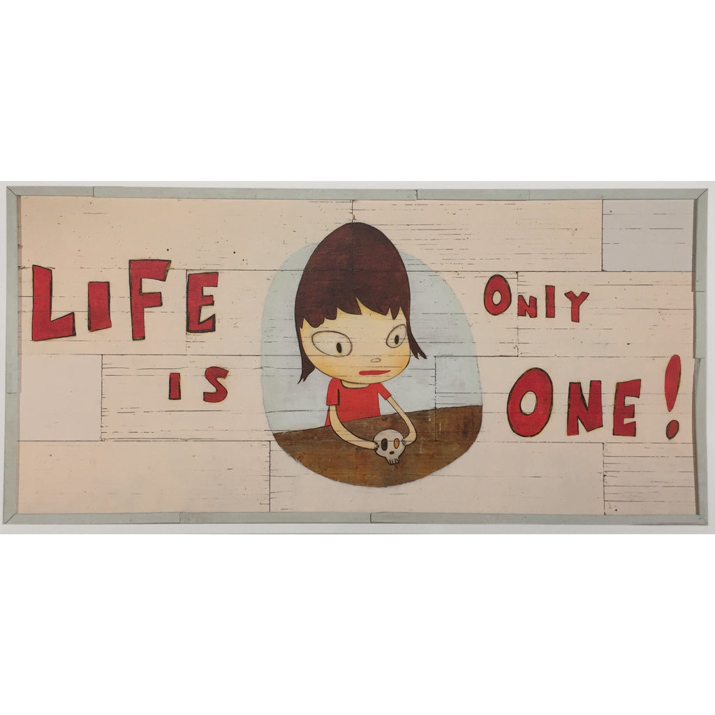 "Yoshitomo Nara ""Life Is Only One!"" Large Postcard"