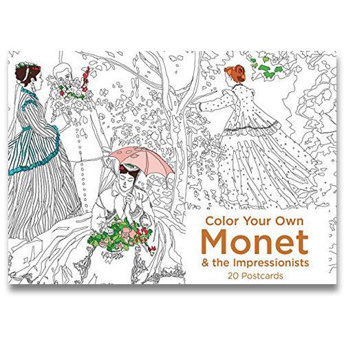 Color Your Own Monet and the Impressionists Postcards