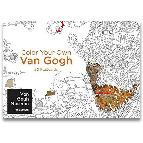 Color Your Own Van Gogh Postcards