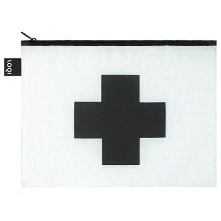 Kazimir Malevich Black Cross Midi Zip Pouch