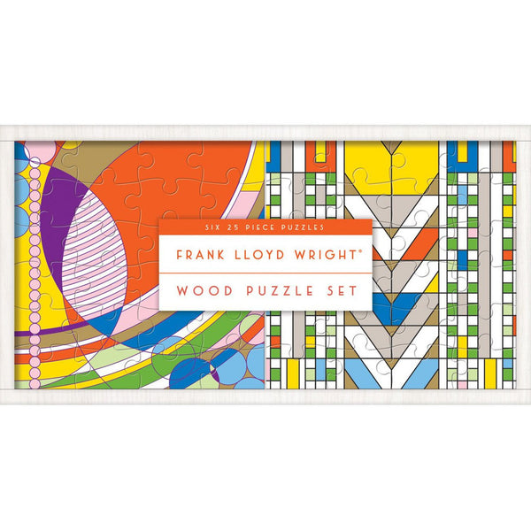 Frank Lloyd Wright Set of 6 Wooden Puzzles