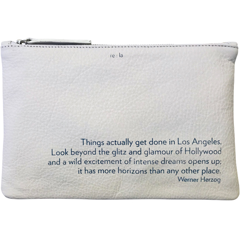 Re:la Flat Leather Pouch White Werner Herzog