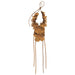 RTH Leather Floral Lei Necklace Double Tassel