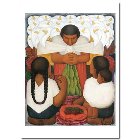 Diego Rivera Flower Day blank Cards