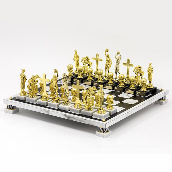 Ry Rocklen: Trophy Modern Chess Set (Basketball), 2014