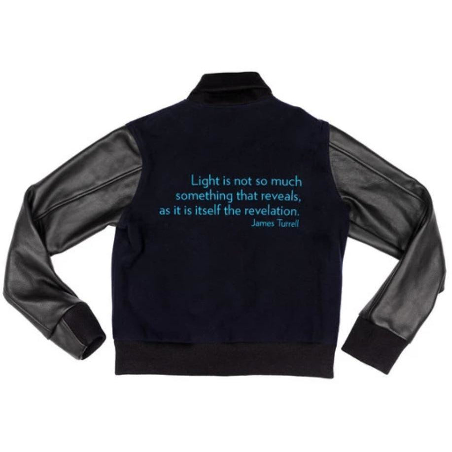 James Turrell Light Reignfall Bomber Jacket by re:la for Wear LACMA (Blue Embroidery)