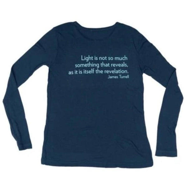 James Turrell Light Reignfall Women's Long Sleeve Shirt in Sodalite Blue by re:la for Wear LACMA
