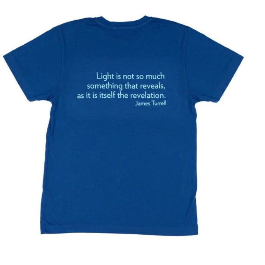 James Turrell Light Reignfall Men's T-Shirt in Sodalite Blue by re:la for Wear LACMA