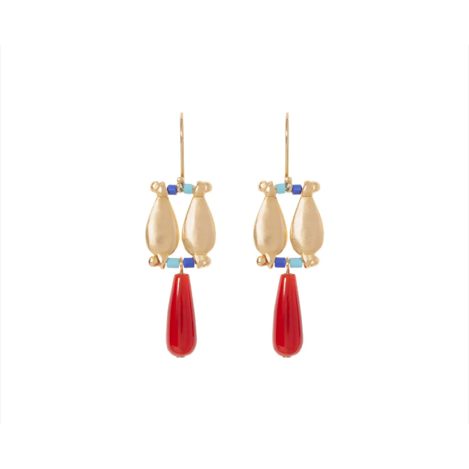 Egyptian Fringe Drop Earrings