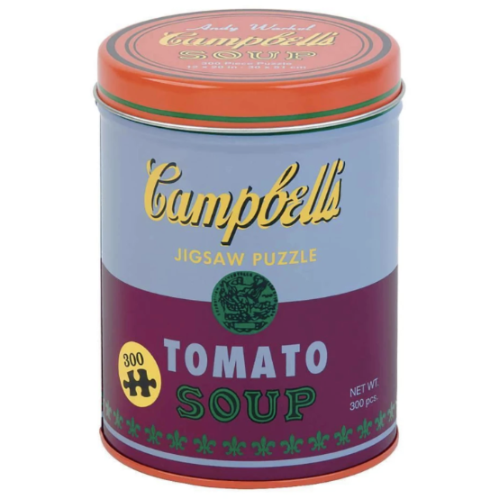 Andy Warhol 'Tomato Soup' Soup Can 300 Piece Puzzle in Red