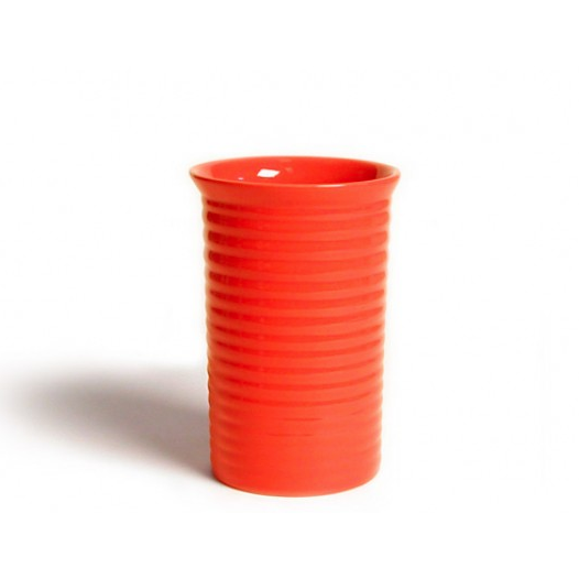 Bauer 9 inch Ringware Vase in Orange