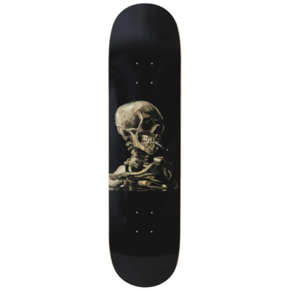 Vincent Van Gogh Skull of a Skeleton with Burning Cigarette Skateboard Deck