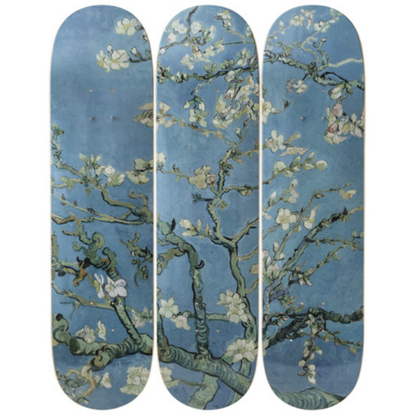 Vincent Van Gogh Almond Blossom Skateboard Set