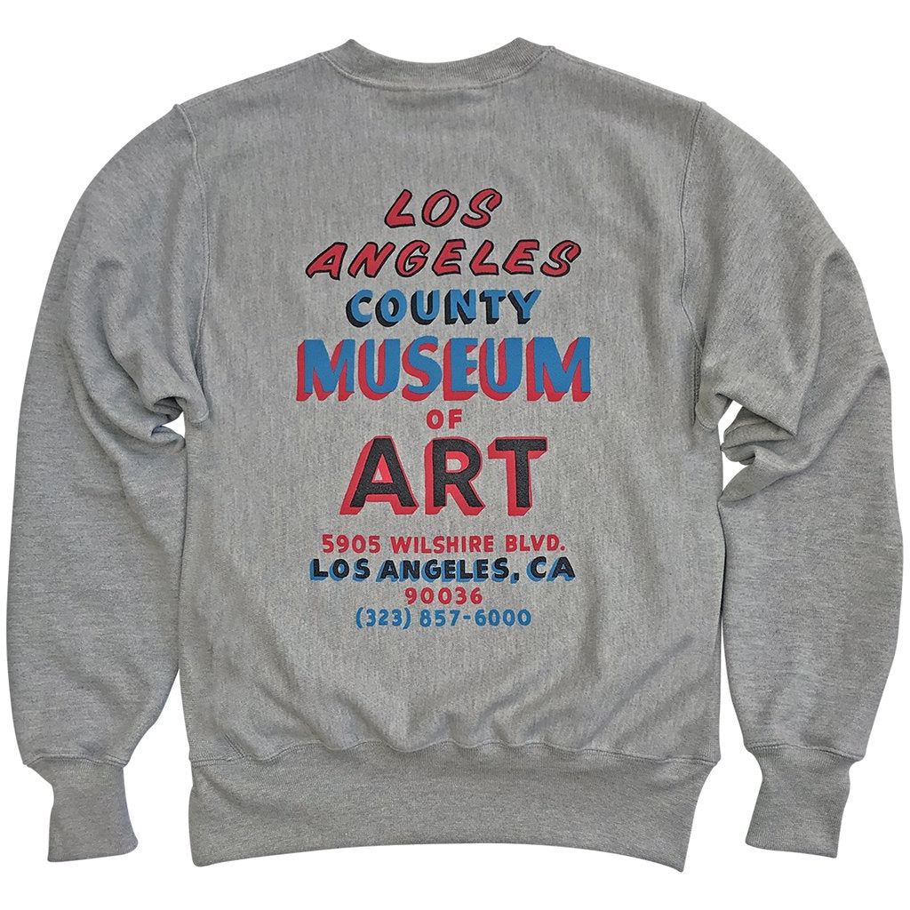 LACMA Hand Painted Sign Champion Reverse Weave Sweatshirt for Kids