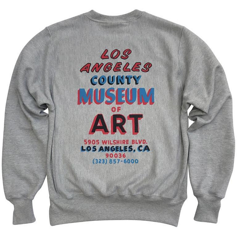 9a1ff0f7 LACMA Hand Painted Sign Champion Reverse Weave Sweatshirt – LACMA Store