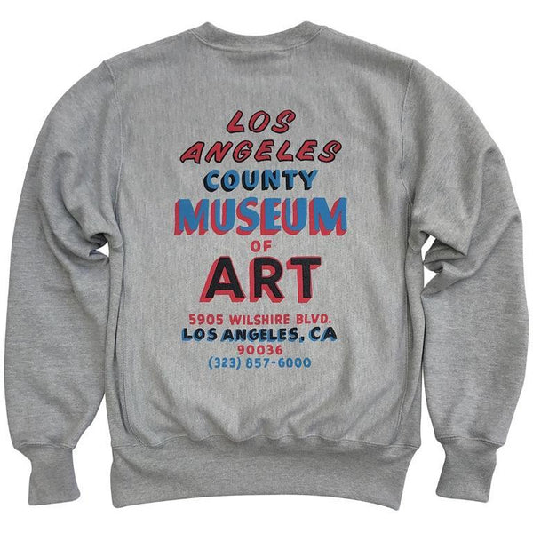 LACMA Hand Painted Sign Champion Reverse Weave Sweatshirt