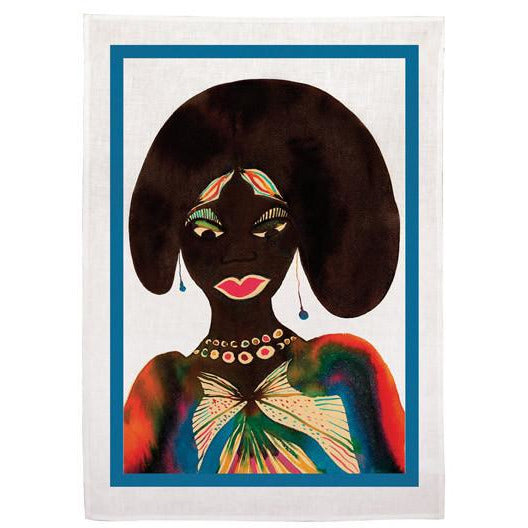 Chris Ofili 'Afromuses' Tea Towel (Woman)