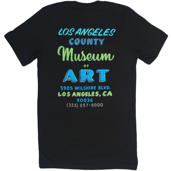 LACMA Sign Painted T-shirt in Black