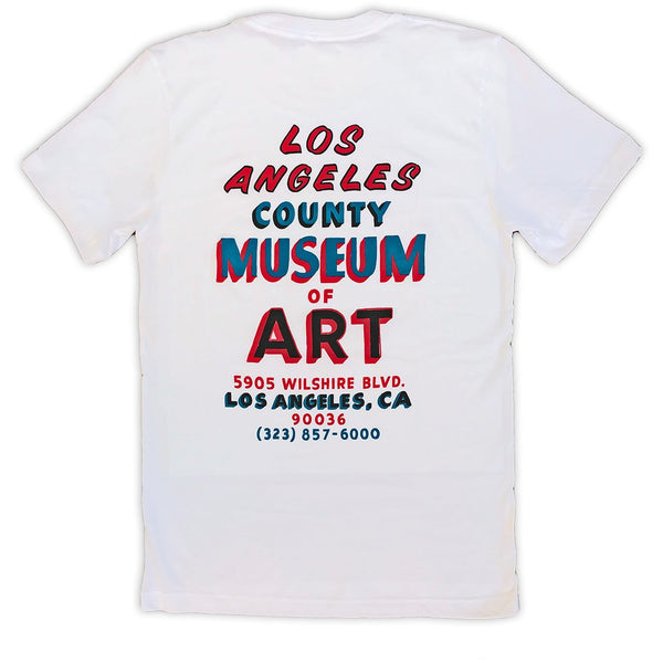 LACMA Sign Painted T-shirt in White