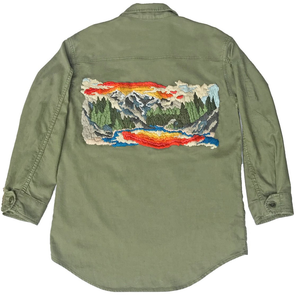 THE GREAT. Embroidered Army Jacket