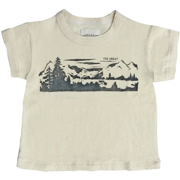 THE GREAT. Lake Tahoe Child's T-shirt Washed White