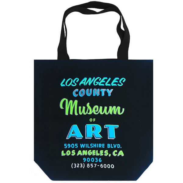 LACMA Hand Painted Sign Tote in Black