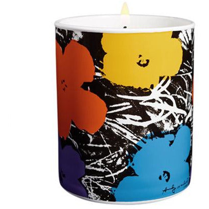 Andy Warhol Flowers Perfumed Candle (Purple)