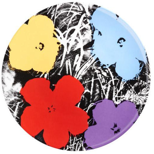 Andy Warhol Flowers Plate (Purple)