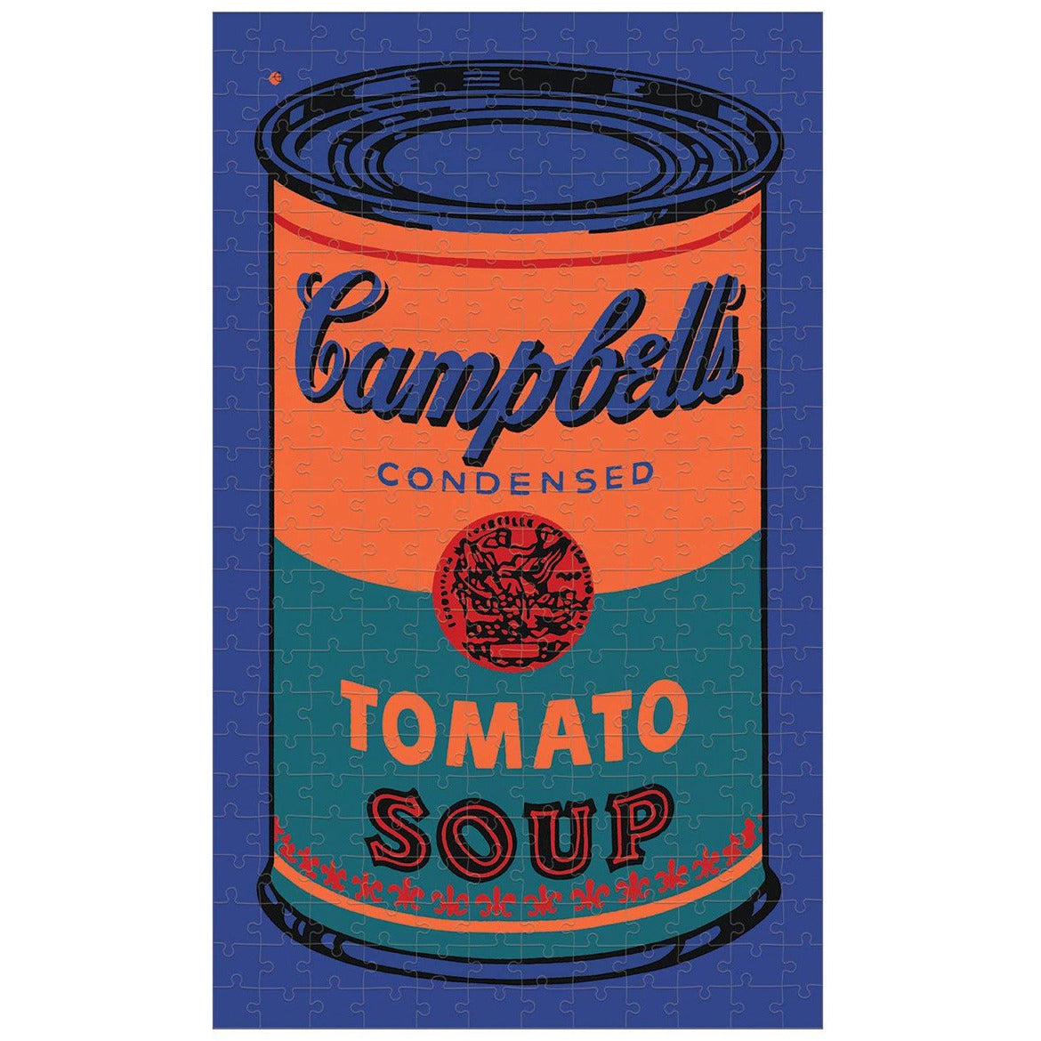 Andy Warhol 'Tomato Soup' Soup Can 300 Piece Puzzle in Orange