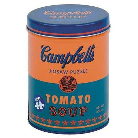 Andy Warhol 'Tomato Soup' Soup Can Puzzle in Orange