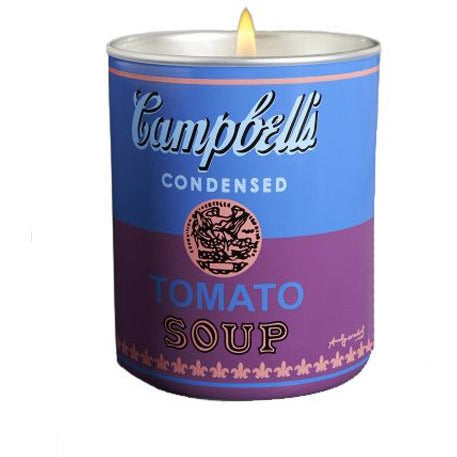 Andy Warhol Campbell's Soup Can Perfumed Candle in Blue/Purple