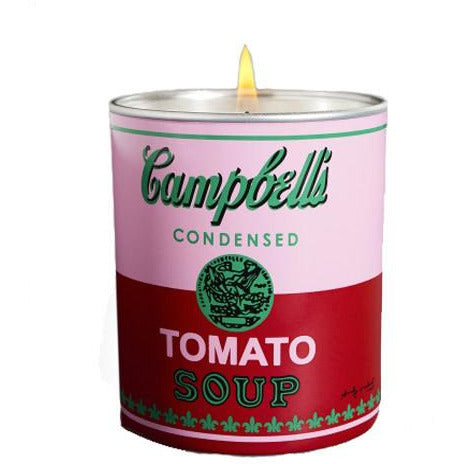 Andy Warhol Campbell's Soup Can Perfumed Candle in Pink/Red