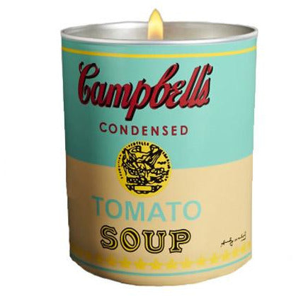 Andy Warhol Campbell's Soup Can Perfumed Candle Turquoise-Yellow
