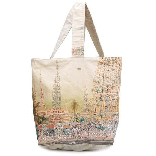 dosa watts towers embellished market bag