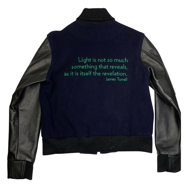 James Turrell Light Reignfall Bomber Jacket by re:la for Wear LACMA (Green Embroidery)