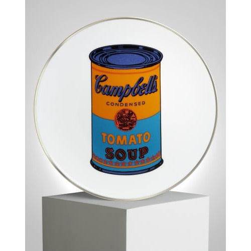 Andy Warhol 'Campbell's' Plate in Blue/Orange