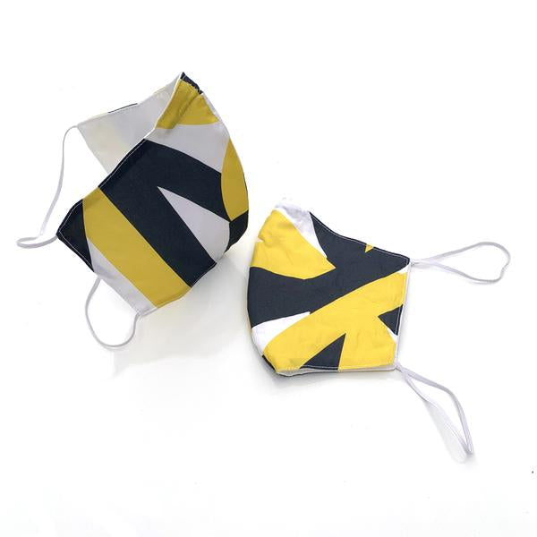 Jim Isermann Set of Two Yellow + Black Masks (over the ear)