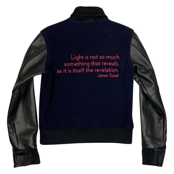 James Turrell Light Reignfall Bomber Jacket by re:la for Wear LACMA (Pink Embroidery)