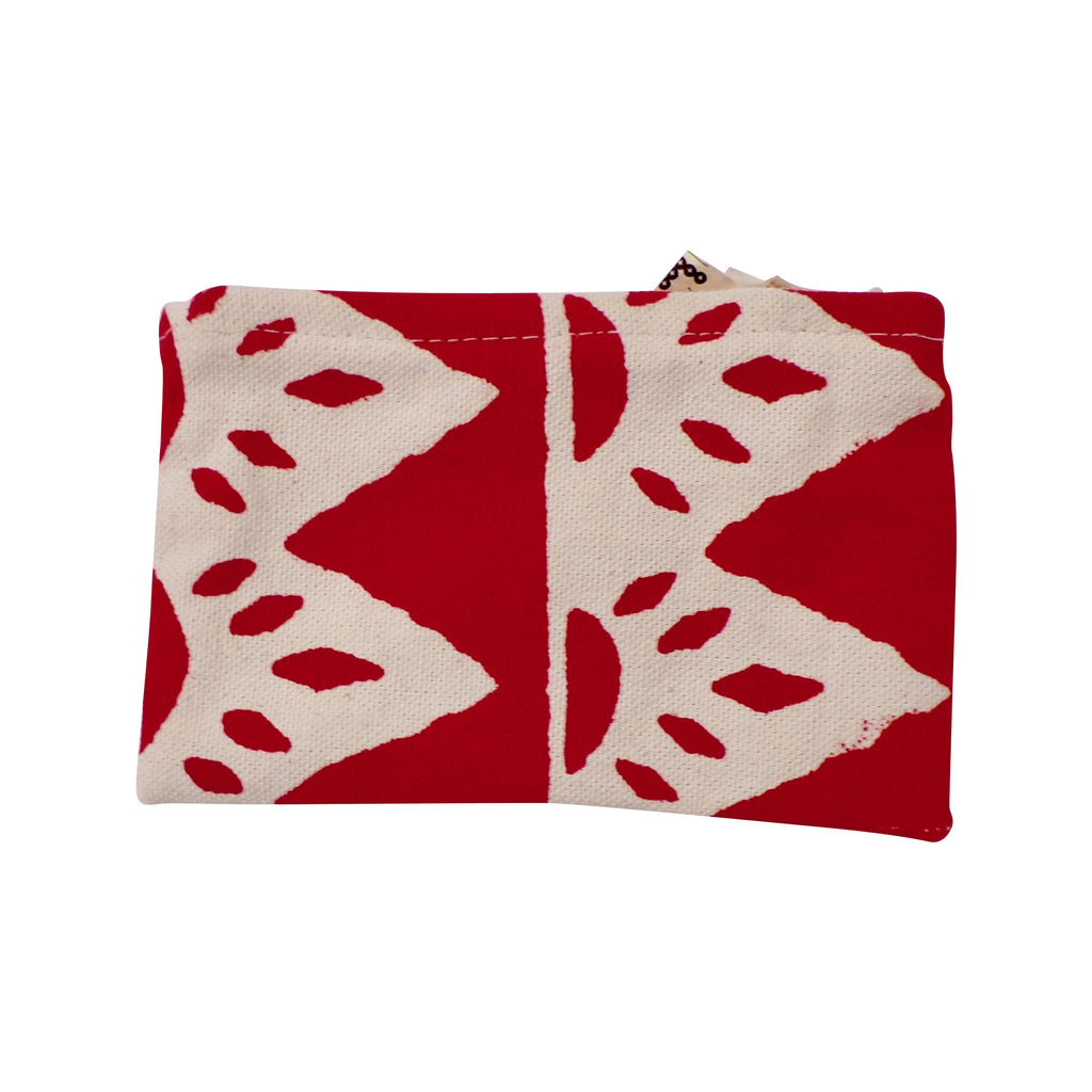 Square Canvas Coin Purse Red