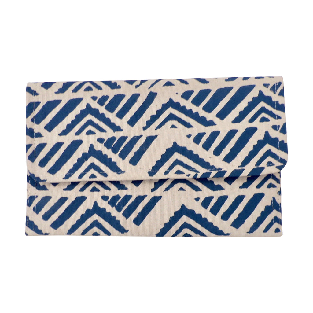 Medium Canvas Clutch Navy