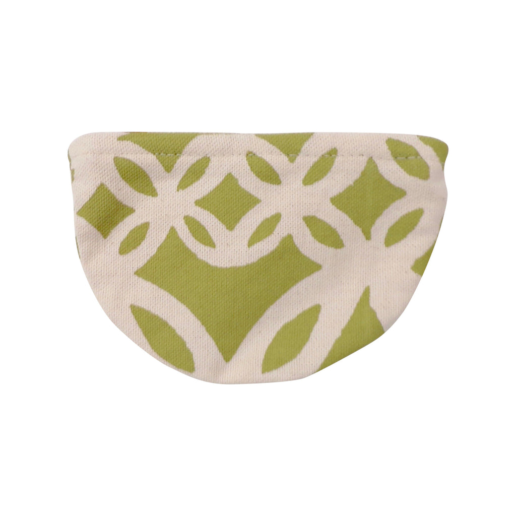 Round Canvas Coin Purse Green