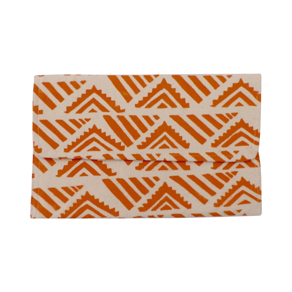 Medium Canvas Clutch Orange