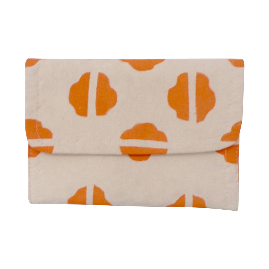 Small Canvas Clutch Orange