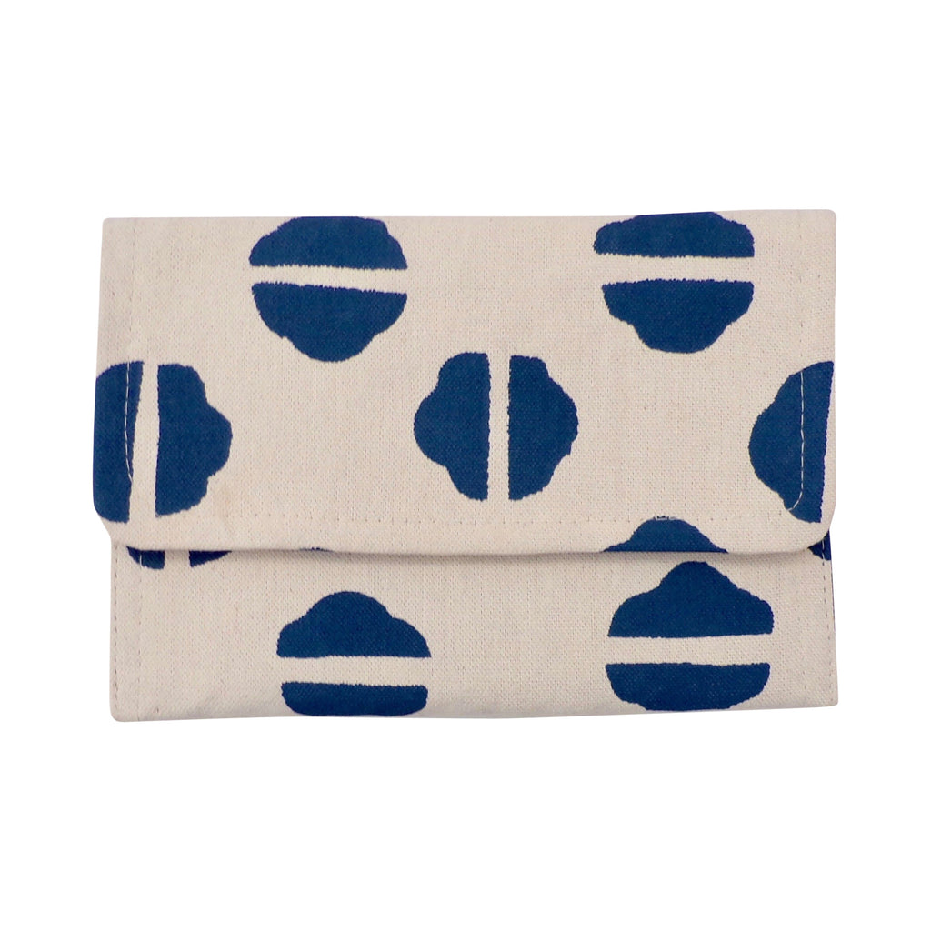 Small Canvas Clutch Navy