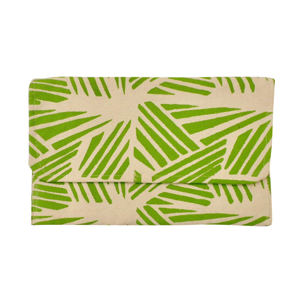 Medium Canvas Clutch Green