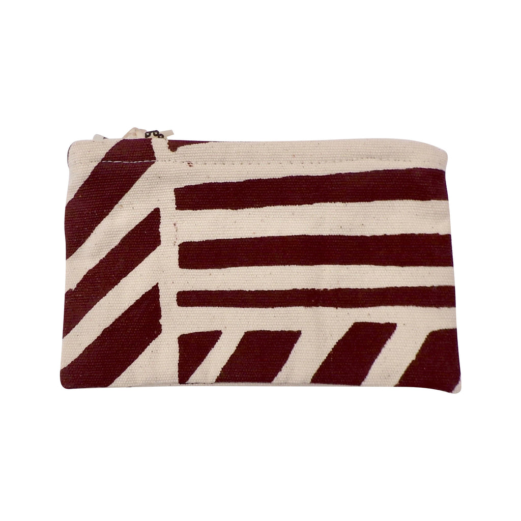 Square Canvas Coin Purse Brown