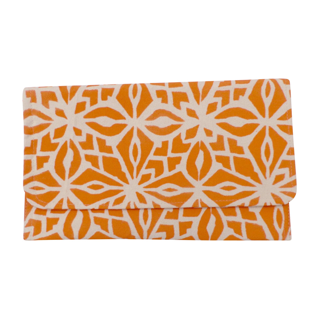 Large Canvas Clutch Orange