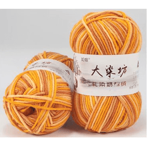 Variegated Milk Cotton Yarn (☁️ Brand)